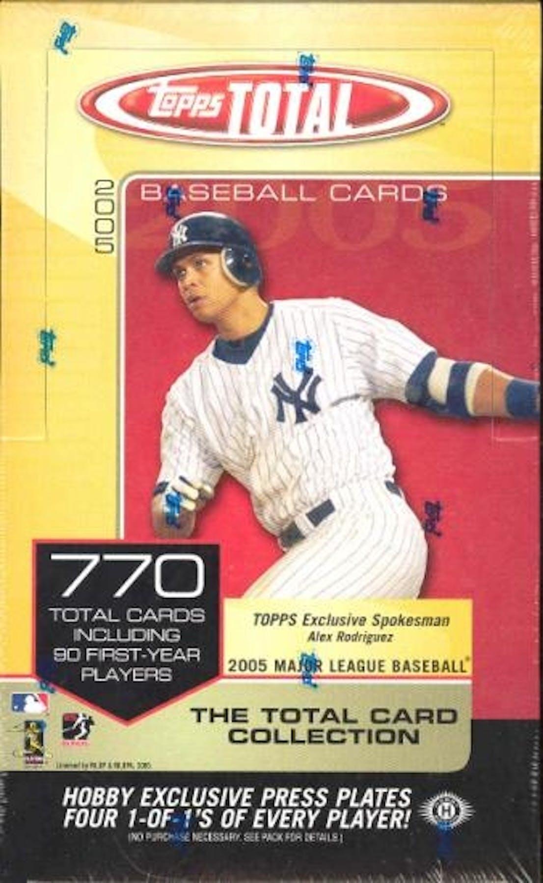 2005 Topps Total Baseball Hobby Box Da Card World