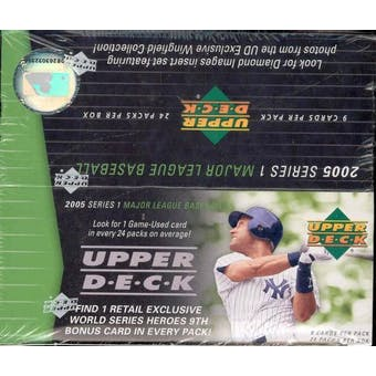 2005 Upper Deck Series 1 Baseball 24 Pack Box