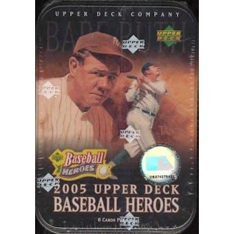 2005 Upper Deck Heroes Baseball Hobby Tin (Box)