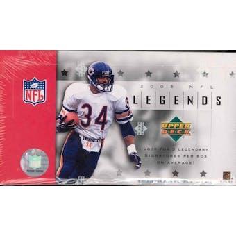 2005 Upper Deck Legends Football Hobby Box