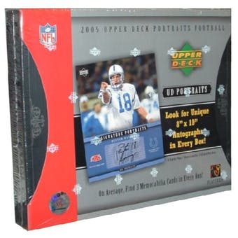 2005 Upper Deck Portraits Football Hobby Box