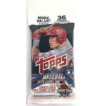 2018 Topps Series 1 Baseball Jumbo Value 36-Card Pack (Lot of 12)