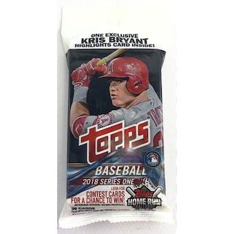 2018 Topps Series 1 Baseball Jumbo Value 36-Card Pack (Kris Bryant Insert)