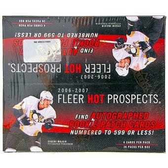 2006/07 Upper Deck Fleer Hot Prospects Hockey 36 Pack Box