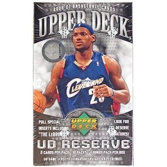 2006/07 Upper Deck Reserve Basketball 11 pack Box