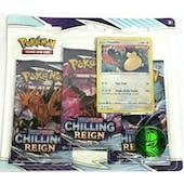 Pokemon Sword & Shield: Chilling Reign 3-Booster Pack Blister