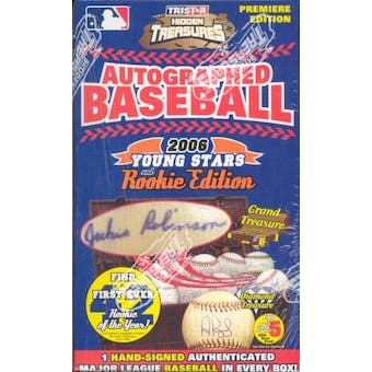 2006 TriStar Hidden Treasures Young Stars & Rookie Ed. Auto Baseball Hobby Box