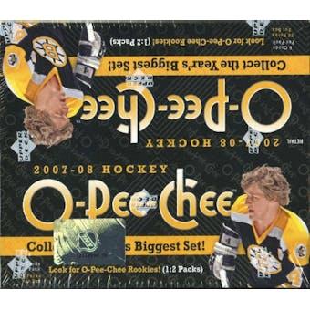 2007/08 Upper Deck O-Pee-Chee Hockey 36-Pack Box