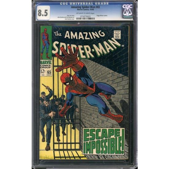 Amazing Spider-Man #65 CGC 8.5 (OW-W) *0718776025*