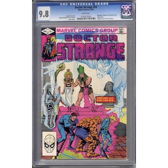 Doctor Strange #53 CGC 9.8 (W) *0743575010*