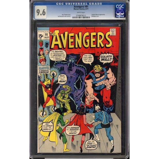 Avengers #91 CGC 9.6 (W) *0748878012*