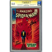 Amazing Spider-Man #50 CGC 5.5 (OW-W) Signed By Stan Lee + Romita Sr. *0766110020*