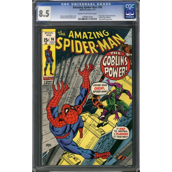 Amazing Spider-Man #98 CGC 8.5 (C-OW) *0769815004*