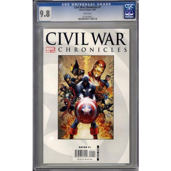 Civil War Chronicles #1 CGC 9.8 (W) *0775478011*