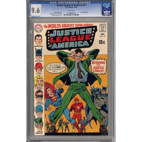Justice League of America #77 CGC 9.6 (W) *0779086010*
