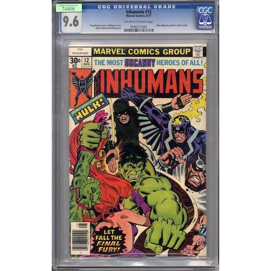 Inhumans #12 CGC 9.6 (OW-W) *0780377004*