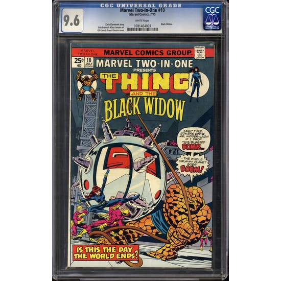 Marvel Two-In-One #10 CGC 9.6 (W) *0781464003*