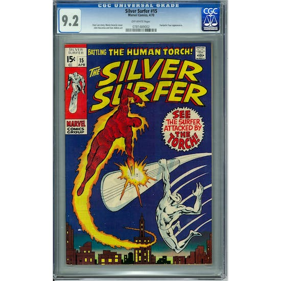 Silver Surfer #15 CGC 9.2(OW) *0781489002*