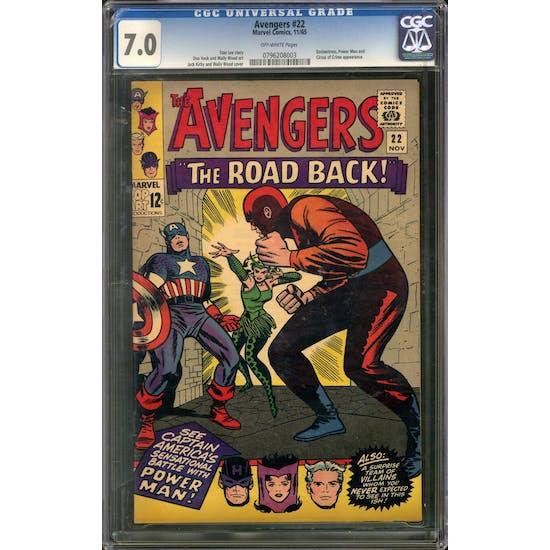 Avengers #22 CGC 7.0 (OW) *0796208003*