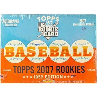 2007 Topps Rookies - 1952 Edition Baseball Hobby Box