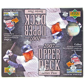 2007 Upper Deck Series 2 Baseball Retail 24-Pack Box