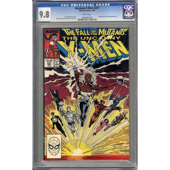 Uncanny X-Men #227 CGC 9.8 (W) *0804962007*