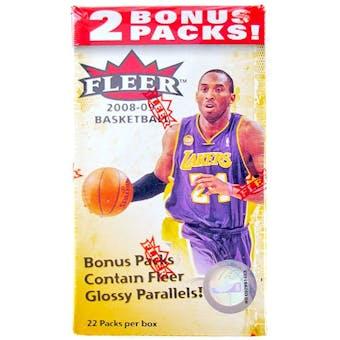 2008/09 Fleer Basketball 22 Pack Blaster Box