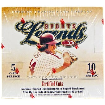 2008 Donruss Americana Sports Legends Hobby Box