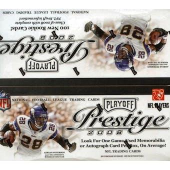 2008 Playoff Prestige Football 24-Pack Retail Box