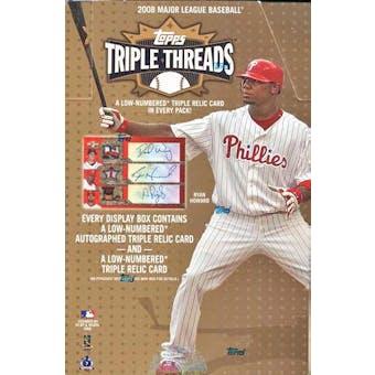 2008 Topps Triple Threads Baseball Hobby Box