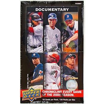 2008 Upper Deck Documentary Baseball Hobby Box