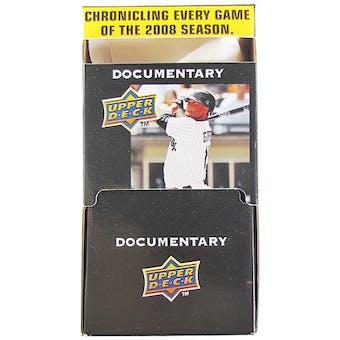 2008 Upper Deck Documentary Baseball 36 pack Box