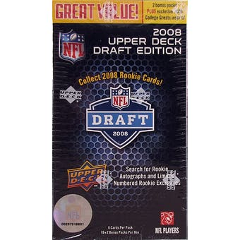 2008 Upper Deck Draft Edition Football 12-Pack Box