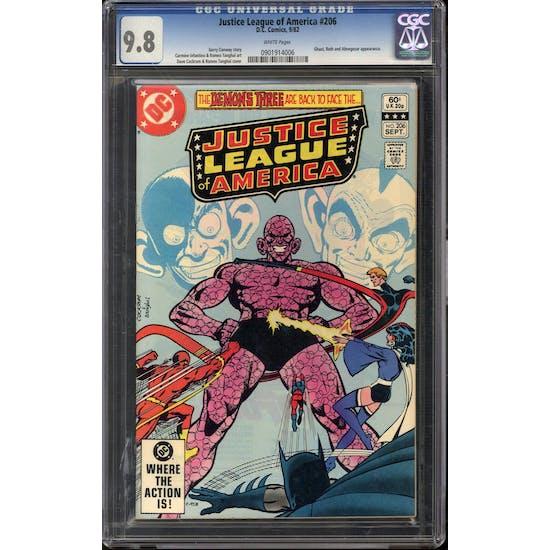Justice League of America #206 CGC 9.8 (W) *0901914006*