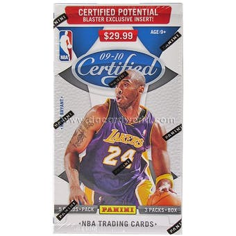 2009/10 Panini Certified Basketball 3 Pack Hobby Box