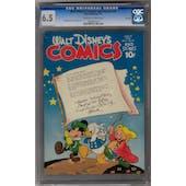 Walt Disney's Comics and Stories #58 CGC 6.5 (C-OW) File Copy *0914851010*