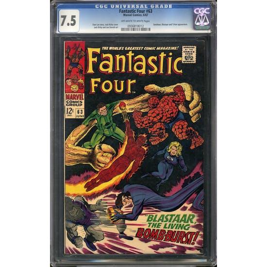 Fantastic Four #63 CGC 7.5 (OW-W) *0936818012*