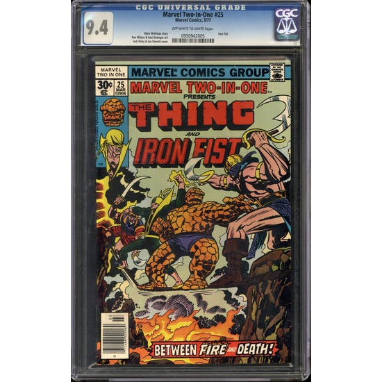 Marvel Two-In-One #25 CGC 9.4 (OW-W) *0950942005*