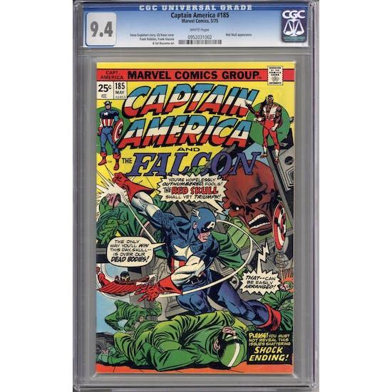 Captain America #185 CGC 9.4 (W) *0952031002*