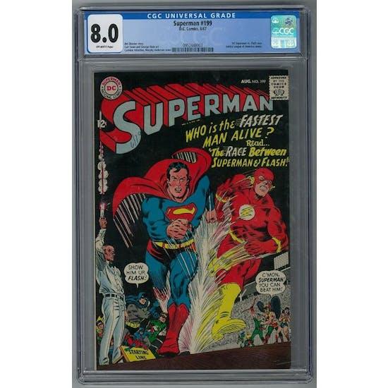 Superman #199 CGC 8.0 (OW) *0952448003*