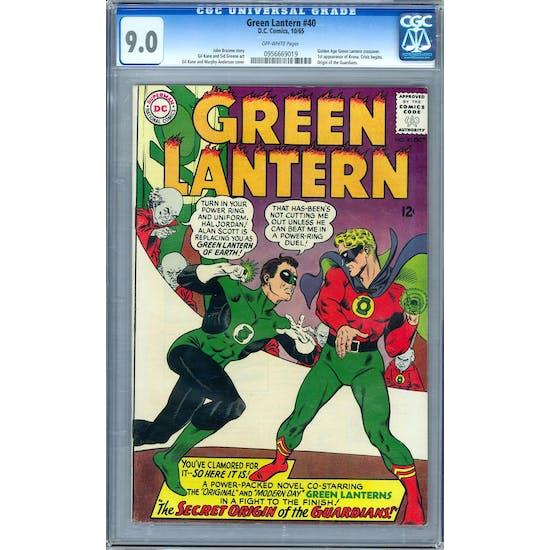 Green Lantern #40 CGC 9.0 (OW) *0956669019*