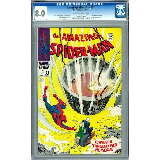 Amazing Spider-Man #61 CGC 8.0 (OW-W) *0979664002*