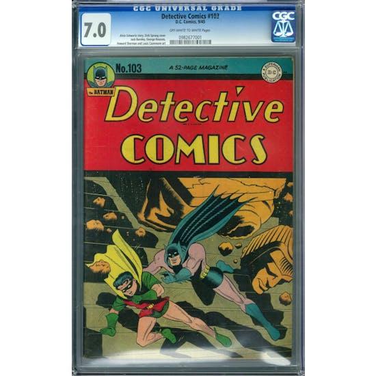 Detective Comics #103 CGC 7.0 (W) *0982677001*