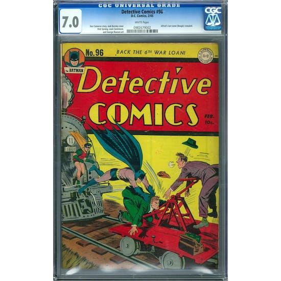 Detective Comics #96 CGC 7.0 (W) *0982679002*