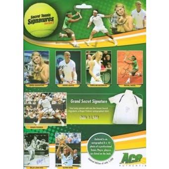 2009 Ace Authentic Secret Tennis Signatures Series 1 Hobby Box