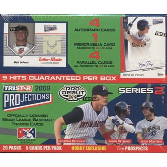 2009 TriStar Projections Series 2 Baseball Hobby Box