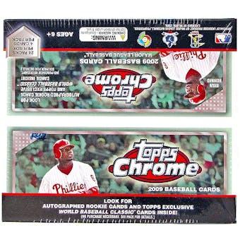 2009 Topps Chrome Baseball Retail 24-Pack Box