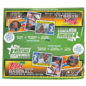 2009 Topps Heritage High Number Baseball 24-Pack Box