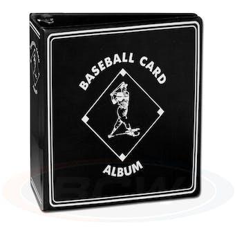 "BCW 3"" Black Baseball Card Collectors Album"