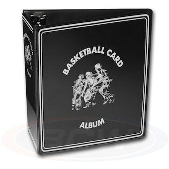 "BCW 3"" Black Basketball Card Collectors Album"